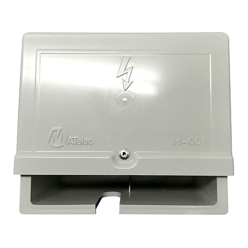 Weather proof box single socket 4 x 2