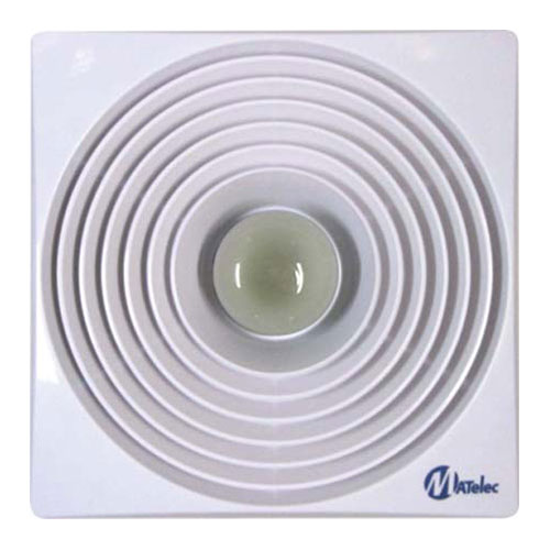 "Ceiling mounted 250mm (10"") plastic blades with light"